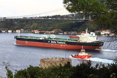 Toppen tankfartyg Arkivfoton