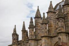 Toppen van de Kapel van Rosslyn, Roslin, Schotland Stock Foto's