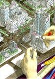 Toppet lim för toppen architector Arkivbilder