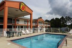 Toppet 8 motell Ocean Springs Biloxi Mississippi Royaltyfri Foto