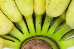 Toppet slut upp mitten av bananen Royaltyfria Bilder
