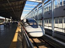 Toppet uttryck i den Japan kokura stationen arkivbild