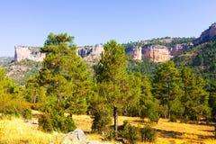 Toppig bergskedja de Cuenca. Castilla-La Mancha Arkivfoton