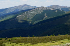 Toppig bergskedja de San Millà ¡ n & x28; Burgos Spain& x29; 4 Royaltyfri Fotografi