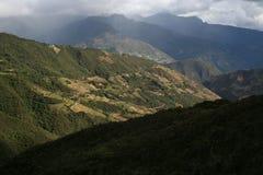 toppig bergskedja för de merida nevada Arkivfoto