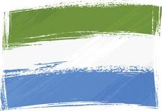 toppig bergskedja för flaggagrungeleone stock illustrationer