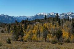 toppig bergskedja för höstnevada plats Arkivfoton