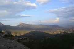 Toppig bergskedja Gorda i Querétaro, México royaltyfri bild