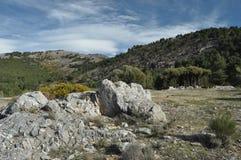 Toppig bergskedja Nevada berg i sydliga Spanien, Royaltyfri Bild