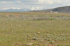 Toppig bergskedja Nevada berg i sydliga Spanien Arkivfoto