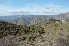 Toppig bergskedja Nevada berg i sydliga Spanien Royaltyfri Fotografi