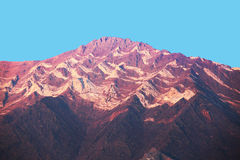 Toppig bergskedja Nevada Mountains Colorful Erosion royaltyfri bild
