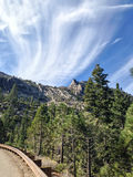 Toppig bergskedja Nevada Roadside Arkivfoto
