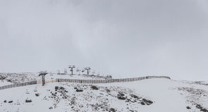 Toppig bergskedja Nevada Spain Ski semesterort Arkivfoton