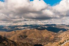 Toppig bergskedja Nevada, Spanien. Arkivbild