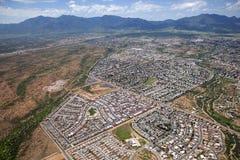 Toppig bergskedja utsikt, Arizona Arkivbilder
