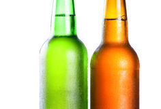 Topping of green and brown bottle Royalty Free Stock Image
