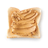 Topping of smooth peanut butter Stock Photos