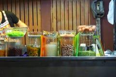 Topping for Thai Ice Dessert stock photo