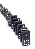 Toppled Dominos Stock Photos