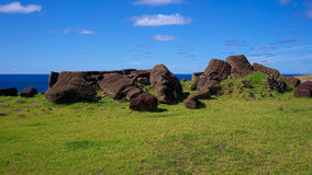 Free Toppled Moais At Ahu Vinapu, Easter Island, Chile Royalty Free Stock Photography - 73006727