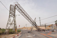 Toppled overhead power line Stock Photography