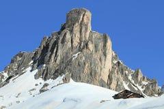 Toppmöte av Dolomites Royaltyfria Foton