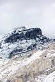Toppmöte av kaskadberget i Banff, Kanada Arkivfoto