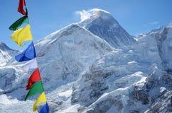 Toppmöte av Mount Everest eller Chomolungma - högst berg, Nepal Royaltyfria Foton