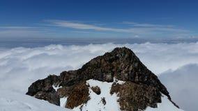 Toppmöte av Mt Taranaki Arkivbilder