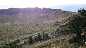 Toppmöte av vulkan Arkivbilder