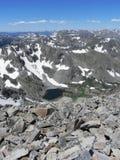 toppmöte för 2 berg Arkivbild