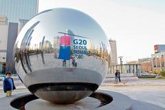 toppmöte för g20 korea Royaltyfri Fotografi