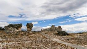 Toppmöte i stenig bergnationalpark Royaltyfria Foton