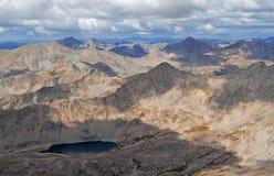 Toppmötesikt från monteringen Columbia, Sawatch område, Colorado, USA royaltyfri fotografi