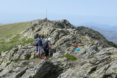 Toppmötet av Punta la Marmora - den Gennargentu nationalparken Arkivfoto