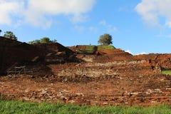 Toppmötet fördärvar Sigiriya Sri Lanka Arkivbilder