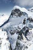 Toppm?tet av Breithorn, fj?ll?ngar, Schweiz, Europa fotografering för bildbyråer
