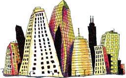 Toppna byggnader Arkivfoton