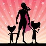 Toppna döttrar för mamma 2 vektor illustrationer