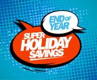 Toppna feriebesparingar, slut av årsförsäljningsdesignen vektor illustrationer