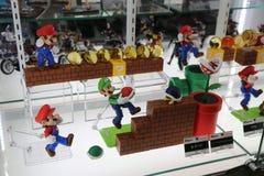 Toppna Mario Bros Handlingdiagram Royaltyfria Bilder