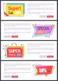 Toppna Sale -20 av, banerklistermärke för specialt erbjudande Royaltyfria Foton