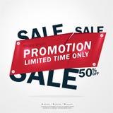 Toppna Sale och specialt erbjudande 50% av också vektor för coreldrawillustration Temafärg Royaltyfria Bilder