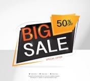 Toppna Sale och specialt erbjudande 50% av också vektor för coreldrawillustration Temafärg Arkivbilder