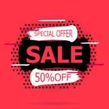 Toppna Sale och specialt erbjudande stock illustrationer