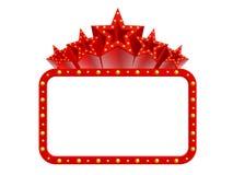 Toppna stjärnor för kasino Royaltyfri Foto
