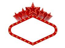 Toppna stjärnor för kasino Royaltyfri Bild