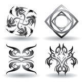 Toppna Tatoo symboler - framför Royaltyfri Fotografi
