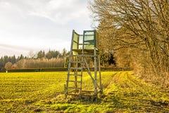 Toppositie bij een bos in Duitsland royalty-vrije stock afbeeldingen